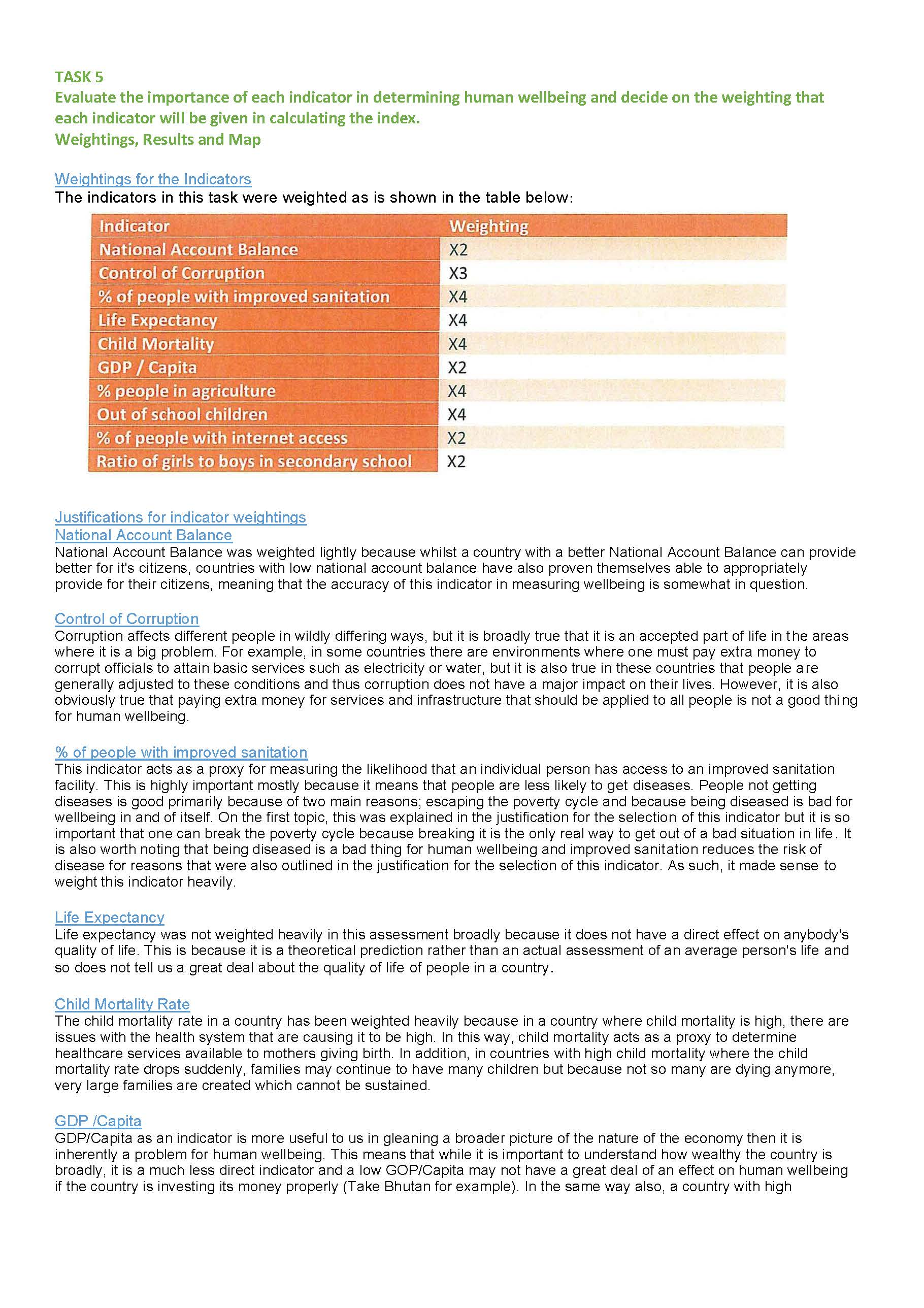 research assignment wellbeing indicators at the australian
