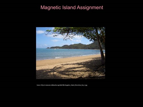 <p><span>Interconnections: Magnetic Island</span></p>